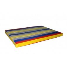 Гимнастический прямой мат для домашних тренировок и детских спортивных комплексов 80х120х8см цветной 61391