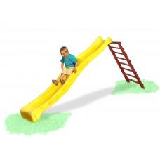 Прямая пластиковая Горка для детских площадок во дворе, на даче для детей от 3 лет, длина 3м, желтая 61452