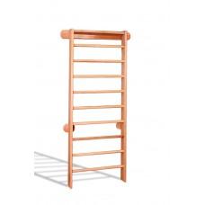 Деревянная шведская стенка-лестница из бука для детей и взрослых, нагрузка до 120 кг, крепеж, 102х225см 61542