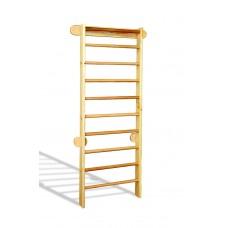 Деревянная шведская стенка-лестница из сосны для детей и взрослых, до 100 кг, с крепежом 102х225см 61543