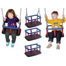 Подвесные Детские Качели из пластика на металлических цепях для уличных спортивных комплексов, цветные 61493