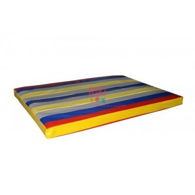 Гимнастический прямой мат для домашних тренировок и детских спортивных комплексов 80х100х8см цветной 61403