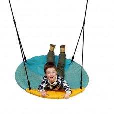 Подвесные Качели Гнездо аиста D=101см для детей и взрослых для уличных площадок, цветной тканевый чехол 61623