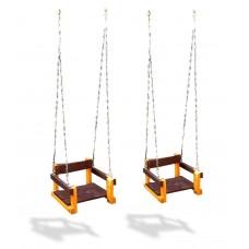 Подвесные Детские деревянные Качели на металлических цепях для уличных спортивных комплексов, до 90 кг 61534