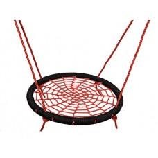 Подвесные Качели Гнездо аиста D=100см для детей и взрослых для уличных площадок, цвет: красный+черный 61494