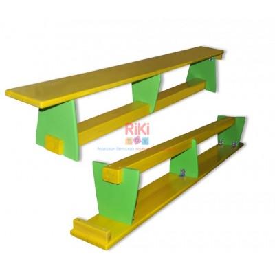 Гимнастическая скамья из сосны для детей и взрослых для спортивных залов детских садов, школ 200х25х30см 61395