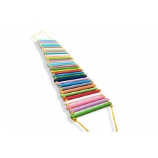 Детская деревянная Массажная дорожка для детей от 2 лет, нагрузка до 70 кг, разноцветная 145х33х2.5см 61635