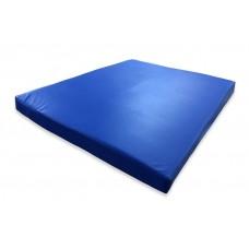 Гимнастический прямой мат для домашних тренировок и детских спортивных комплексов 80х120х8см синий 61405