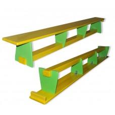 Гимнастическая скамья из сосны для детей и взрослых для спортивных залов детских садов, школ 300х25х30см 61396