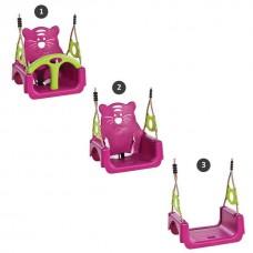 Подвесные уличные качели 3в1 из пластика для спортивных комплексов с перекладиной и ремнем безопасности 61487