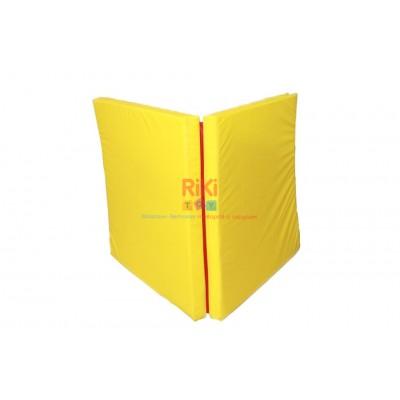 Гимнастический прямой мат для домашних тренировок и детских спортивных комплексов 100х200х8см желтый 61329