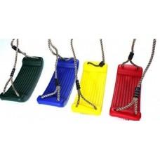 Подвесные пластиковые качели для спортивных комплексов или площадок для детей от 3 лет, разноцветные 61559