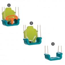 Подвесные качели 3в1 для спортивных комплексов дома и на улице из пластика с перекладиной и ремнем 61489