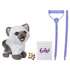 Детский Интерактивный игрушечный Котенок Ками с поводком, корм и пакет для уборки - Kami FurReal Friends Hasbro