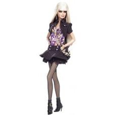 Игровая Кукла Барби для девочек Блондинка Топ Модель розово-черный наряд, чулки-сетка - Barbie Top Model Doll