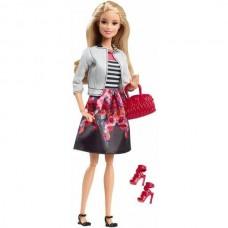 Игровая Кукла Барби для девочек коллекция Стиль в белом жакете и юбке с цветочным принтом - Barbie Style Doll