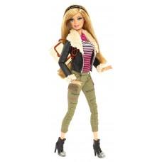 Игровая Кукла Барби для девочек коллекция Стиль в кожаном пиджаке с аксессуарами 2014 года - Barbie Style Doll