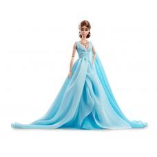 Коллекционная Кукла Барби Силкстоун Голубое шифоновое платье - Fashion Model Blue Chiffon Ball Gown Barbie Doll
