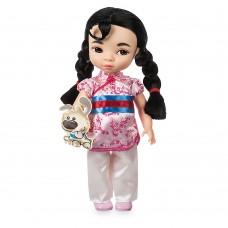 Коллекционная Игровая Кукла для девочек Мулан в детстве с песиком Дисней, 40 см, винил - Mulan, Disney Animators