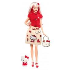 Коллекционная Кукла Барби Блондинка Хеллоу Китти с сумочкой Hello Kitty и фигуркой - Barbie Hello Kitty
