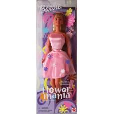 Коллекционная Кукла Барби Цветочная Мания розовое платье в цветах и бабочках 2000 года - Barbie Flower Mania