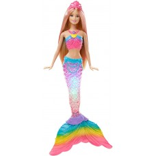 Кукла Барби Блондинка Русалочка Яркие огоньки с мерцающим хвостом с тиарой - Rainbow Lights Mermaid Barbie Doll