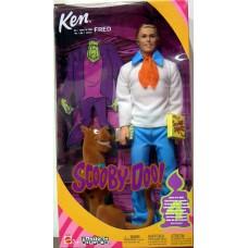 Кукла Барби Кен в роли Фреда из м/ф Скуби-Ду с собакой и аксессуарами 2002 года - Scooby Doo Ken Fred Babie Doll