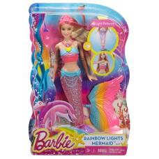 Кукла Барби Русалка Яркие Огоньки Блондинка - Barbie Rainbow Lights Mermaid