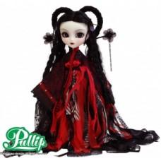 Кукла Коллекционная шарнирная Пуллип Мир в готическом наряде, с иероглифом дракона в зрачке,  31 см - Pullip Mir