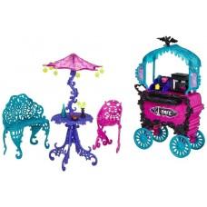 Кукольный игровой набор Передвижное кафе Скариж - Город Страха Monster High Scaris - City of Frights Cafe Cart