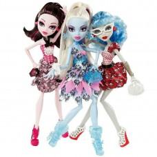 Кукольный набор Монстер Хай Monster High Смертельно Прекрасный Горошек - Дракулаура,Эбби и Гулия