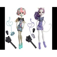 Кукольный набор Монстер Хай Monster High из 2х кукол Монстро-чат с Рошель и Катрин деМяу Ghoul Chat