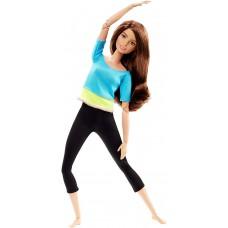 Шарнирная Кукла для девочек Барби Брюнетка из серии Безграничные Движения Йога - Made to Move Barbie Doll
