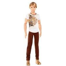 Шарнирная Кукла для девочек Барби Кен Модник в коричневых джинсах - Ken Fashionistas Brown Jeans Barbie Doll