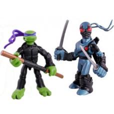 Набор Фигурок Донателло и Фут Ниндзя с оружием, подвижные, высота 7 см - Donatello, Foot Tech Ninja, Playmates