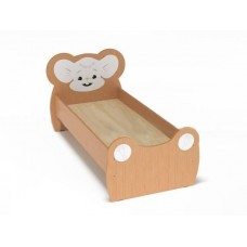 Кровать Одноместная Ясельная для детей Мышонок с рисунком и безопасными бортиками, цвет бук 140х60 см