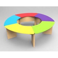 Модульный Комплект для детского сада из 5 приставных столиков для игр и занятий творчеством 210x210x46/52/58см