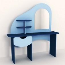Стенка Парикмахерская для детсадов с туалетным столиком с зеркалом, полками и ящиком для мелочей 100х40х120 см 61721-19 W369