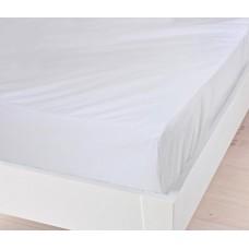 Наматрасник водонепроницаемый с бортами Аква Стоп: мембранная и махровая ткань, цвет белый 100х200х20 см