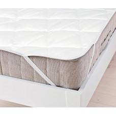 Защитный Наматрасник на резинке Стандарт: наполнитель синтепон, верх микрофибра, цвет белый 120х200 см 62051-19 HF-2040003