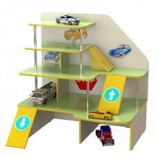 Стенка Паркинг для дома и детских садов с игровыми элементами и полками для игрушек и машинок 120х91х126 см 61682-19 W330
