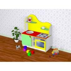 Игровая Стенка-Кухня для дома и детских садов со шкафчиками, тазиками для стирки и мытья посуды 95х43х110 см 61712-19 W360