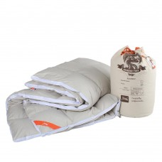 Одеяло Зимнее антиаллергенное Mont Blanc хлопок и пух, облегченное, особо теплое, цвет Кофейный 175х210 см