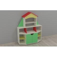 Игровая Стенка Книжный дом для детских садов с полками для книг и пособий, ящиками для игрушек 120х42х150 см 61693-19 W341