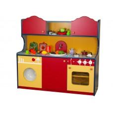 Стенка Кухонный Гарнитур для детских садов с ящиками для хранения игрушек, для сюжетных игр 119х42х129 см 61714-19 W362