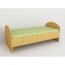 Кровать детская одноярусная одноместная ясельная без бортиков и матраса, цвет в ассортименте 140х65х60 см