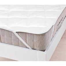 Защитный Наматрасник на резинке Стандарт: наполнитель синтепон, верх микрофибра, цвет белый 100х200 см