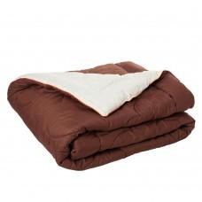 Одеяло гипоаллергенное Сон казака зимнее теплое: микрофибра и шерстипон, (цвет коричневый, бежевый) 175х210 см
