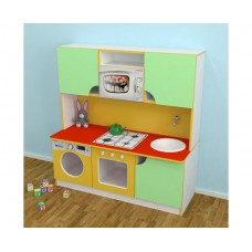 Игровая Стенка-Кухня Малютка для детских садов для сюжетных игр, с полками для хранения игрушек 120х43х125 см 61696-19 W344