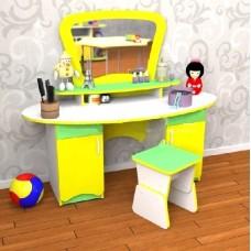 Игровая Стенка Трюмо для юных модниц: туалетный столик с зеркалом и полками (без табурета) 130х52х113 см 61726-19 W374
